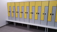 Шкафы секционные, шкафчики локеры HPL для СПА салонов, персонала медцентров, отелей, мебель HPL мебель для бассейнов, гольф-клубов, спортраздевалок