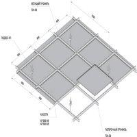 Потолочные плиты Албес AP 600 A6 Эконом белый