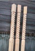 Столбы резные опорные для веранд, балконов, лестниц, беседок и т. д.