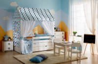 Балдахин на кровать-домик