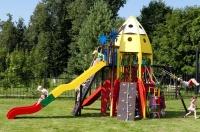 Корабль (кораблик) деревянная игровая детская площадка для дачи для сада для улицы в форме и в виде