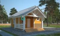 Каркасный дом с сауной