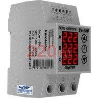 Реле напряжения V-protector 3-хфазное DIN 1 пер.контакт 6А, DigiTOP - DT-vp-380v