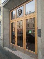 Входная уличная  историческая из массива дубавосстановленная по существующему дверному блоку  ГИОП,историческая, Фурнитура ЛАТУНЬ ГИОП восстановленная по существующему дверному блоку