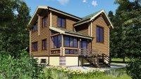 Строительство дома из бревна общей площадью 176м2