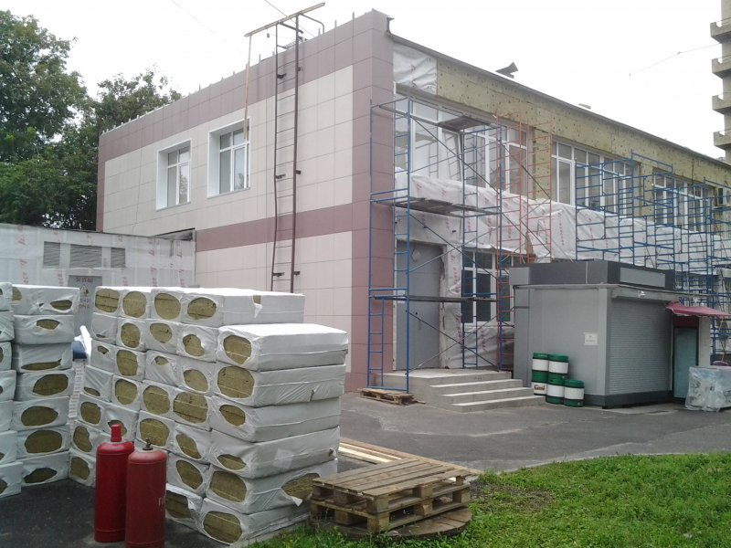 Монтаж вентилируемых фасадов.