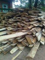 Горбыль на дрова, строительный кромленый 3-4м