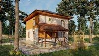 """Каркасный дом ЗПК-174 """"Купеческий"""", отделан под ключ, утепление=200мм"""