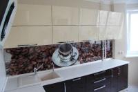 Стеклянные фартуки для кухни. Фотопечать и матовый рисунок на стекле.