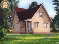 """Дом из бруса 9x9 м. """"Светогорск"""""""