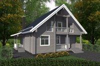 Дом из профилированного бруса Лукоморье-138