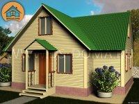 "Каркасный дом 8x10 м. проект: ""Кобрино"""