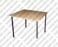Стол пластиковый обеденный на металлокаркасе, крышка ДСП 16мм, кромка ПВХ 0,4мм 700×700 'СО-2'