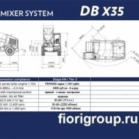 Бетоносмеситель с самозагрузкой Fiori DBX35 передняя загрузка