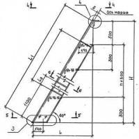 Стальная маршевая лестница (металлический лестничный марш типа ЛГВ 60) по серии 1.450.3-7.94.2