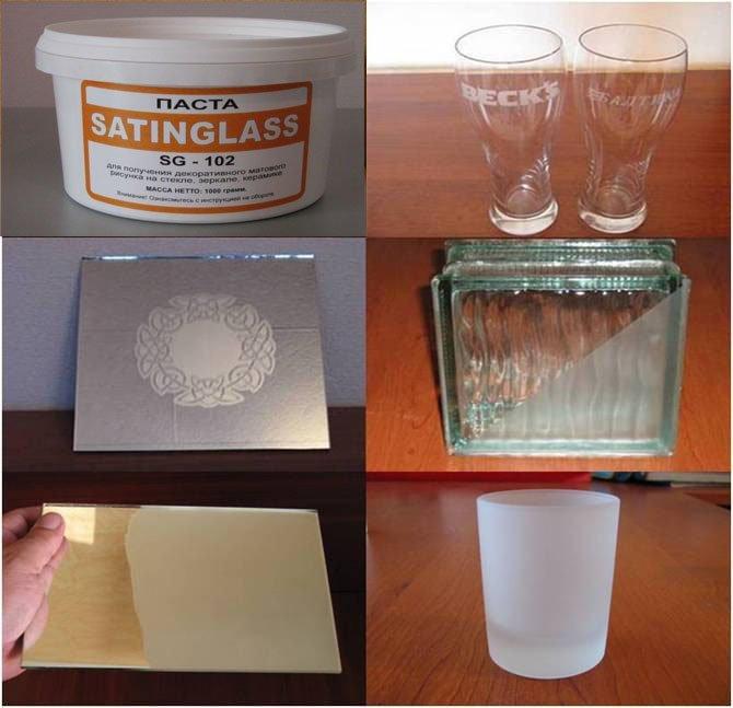 Паста для матирования стекла и зеркал Satinglass SG-102