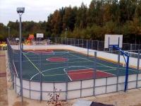 Хоккейная коробка производство и монтаж.