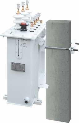 Силовые (распределительные) масляные трансформаторы серии ТМГ столбового исполнения