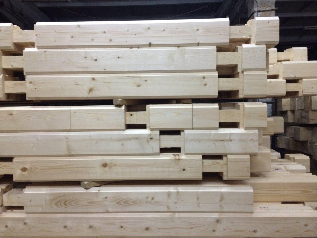 Профилированный брус естественной влажности с запилами по проекту - купить в Кирове, цена 13 500 руб. за 1 м3, id 62637
