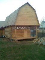 Сруб бани 4*5+2м.выпуска+крыша ломаного типа