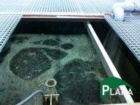 Канализационные очистные сооружения PlanaOS-B-МBBR на мобильном носителе биоценоза «биочипсы» (BioСhips, BioFlakes).