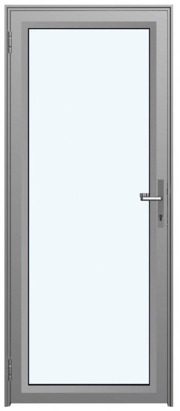 Дверное полотно на основе алюминиевого профиля Серия Simple Vitrage