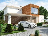 """Проект двухэтажного дома """"Альфа"""" из газобетона 190 кв.м., 15.9 X 20"""