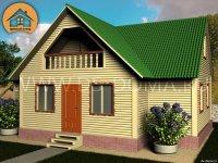 "Каркасный дом 7.5x10 м. проект: ""Пупышево"""