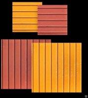 Тактильная плитка бетонная для помещений продольные рифы 50х50х5 желтая