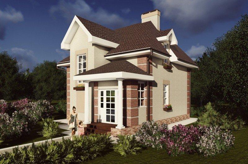 Строительство дома из газобетона общей площадью 98,3 м2