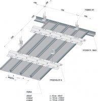 Потолочная рейка Албес A 100 AT Эконом  белый матовый L = 3м