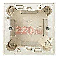 Цоколь для открытой установки на 1-2 модуля, без рамки, ABB Zenit, цвет альпийский белый - AB-N2991BL