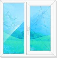 Пластиковое окно двухстворчатое Эконом