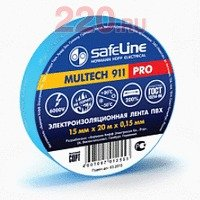 Изолента 15/10 синий, Safeline - SL-9359
