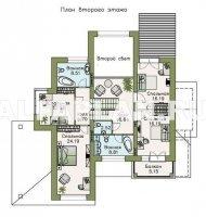 """107AC""""Современник плюс""""- современный коттедж c цокольным этажом"""