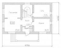 Строительство дома из кирпича общей площадью 84,2 м2