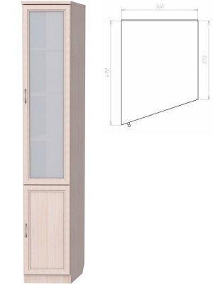 Шкаф для книг (левая консоль) (Цвет-Молочный дуб)