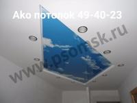 Натяжной потолок в квартиру под ключ