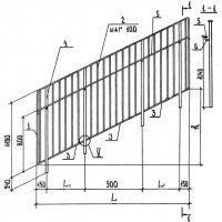 ПЕРИЛА марки МД 30.17-30.12Р - лестничные ограждения железобетонных лестниц по типовой серии 1.256.2
