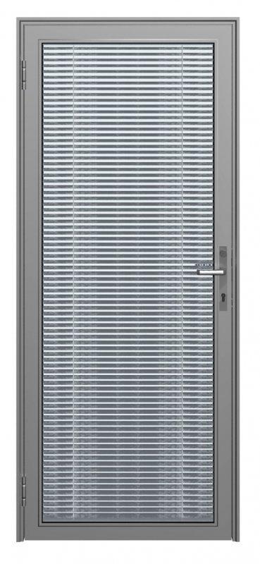 Дверное полотно на основе алюминиевого профиля Серия Double Vitrage 2