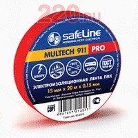 Изолента 15/10 красный, Safeline - SL-9357