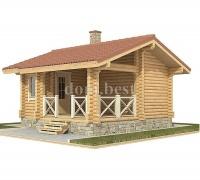 """Проект деревянной бревенчатой бани """"Сафари"""""""