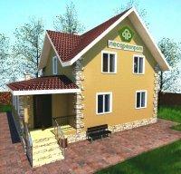 EcoDomExpo - проект дома 10x11