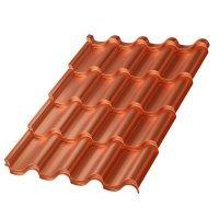 Металлочерепица МП Монтерроса-SL (AGNETA-03-Copper\Copper-0.5)