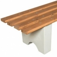 Скамейка без спинки СО13, скамья  ножки бетонные.