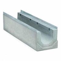 Мелкосидящие бетонные водоотводные лотки Light DN 100