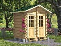 Деревянный душ и туалет 2,5х2 «Тандем»