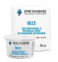 Кристаллизол W12 Водоостанавливающий гидроизоляционный материал проникающего действия. Для работ по бетонным и кирпичным поверхностям при сильной фильтрации грунтовых вод.