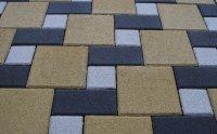 Тротуарная плитка «Квадрат» 300х300х60 (цвет серый).
