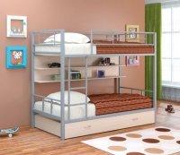 Двухъярусная кровать Севилья 2 ПЯ (Цвет-Серый/Дуб)